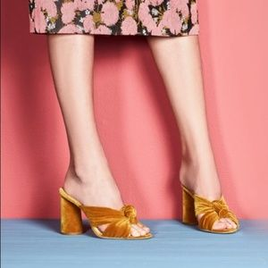 Loeffler Randall Coco Knot Mules Heels Marigold